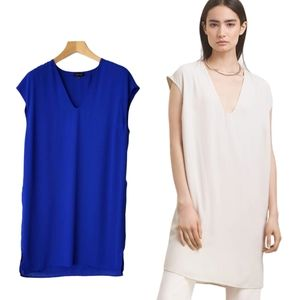 Aritzia Babaton Pedro V-Neck T-Shirt Mini Dress